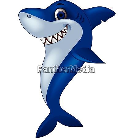 divertente cartone animato di squalo