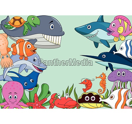 sfondo cartone animato vita marina