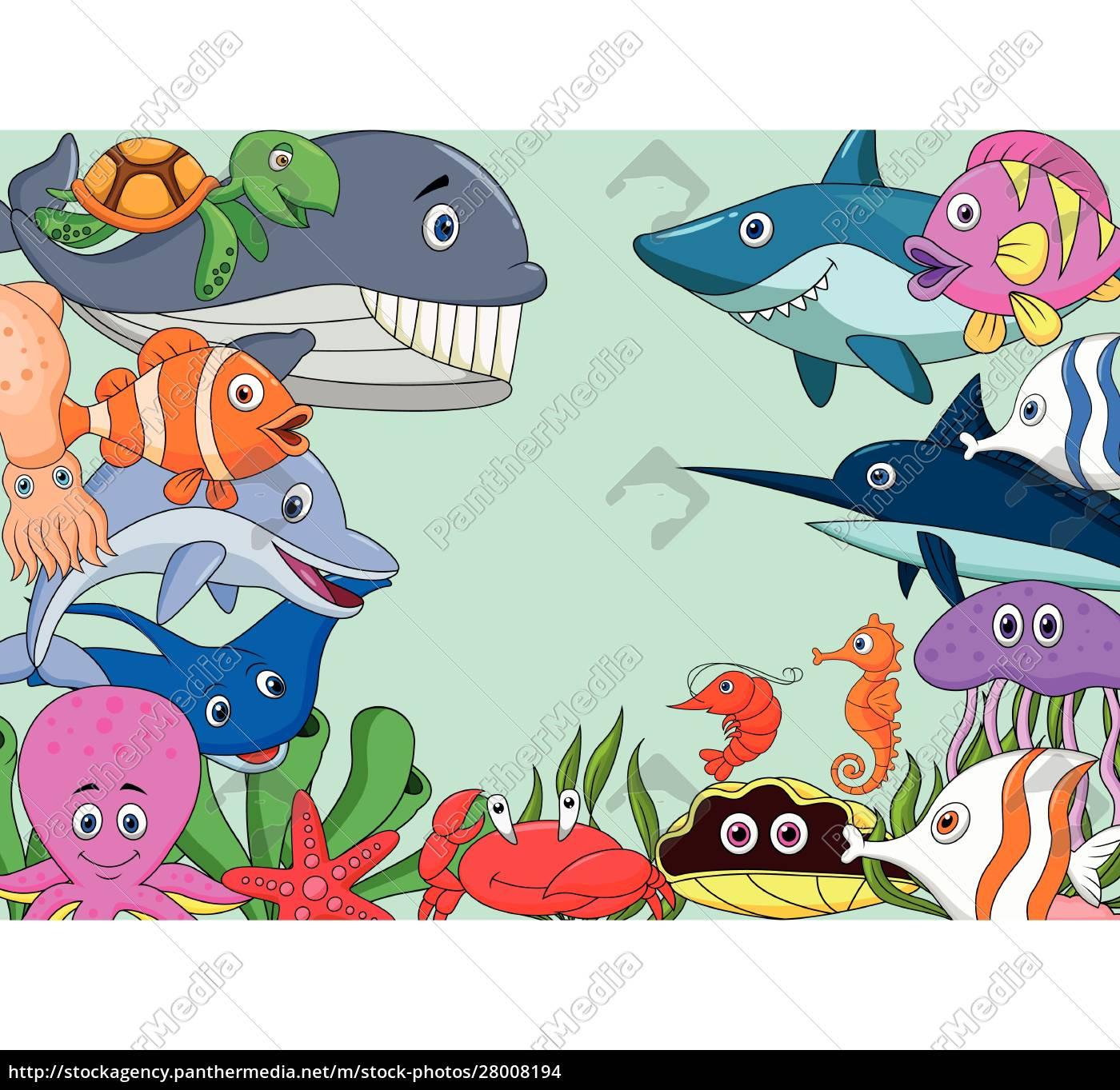 sfondo, cartone, animato, vita, marina - 28008194