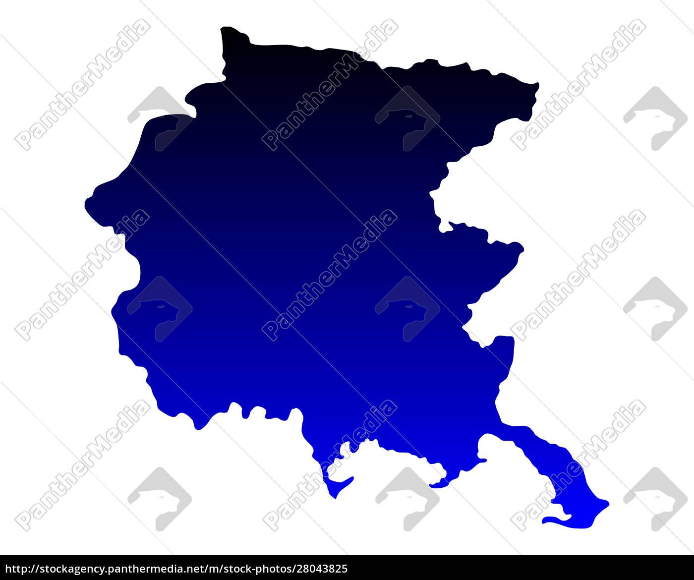 map, of, friuli-venezia, giulia - 28043825