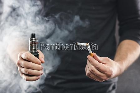 svapo e liquid da una sigaretta