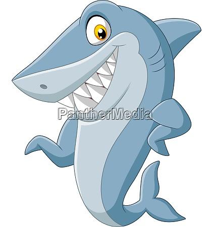 squalo dei cartoni animati che sventola