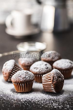 muffin, al, cioccolato, gustosi., dolce, tortini. - 28135258