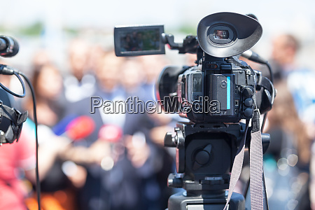 public relations pr filming an