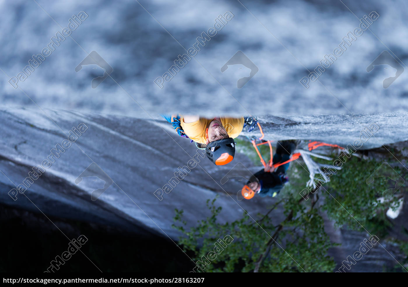 a, climber, traditional, climbing, , on - 28163207