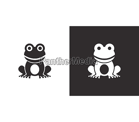 frog isolated icon on black and