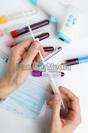 laboratory sample of the novel coronavirus