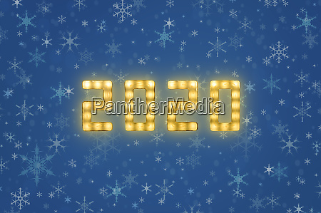 yellow neon glowing led 2020 sign