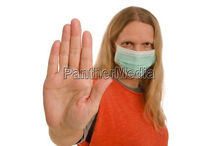 maschera di protezione influenza corona covid19