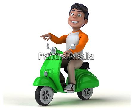divertente, cartone, animato, 3d, adolescente, asiatico - 28277465
