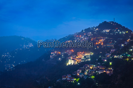 night view of shimla town himachal