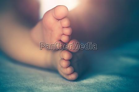 foto ravvicinata di un piccolo piedi