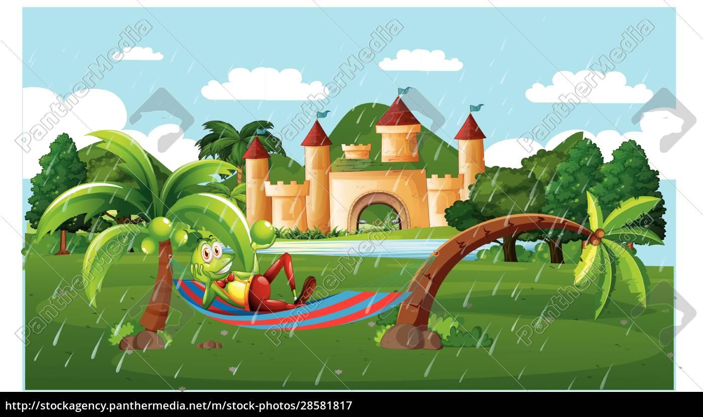 a, tortoise, is, enjoy, the, rain - 28581817
