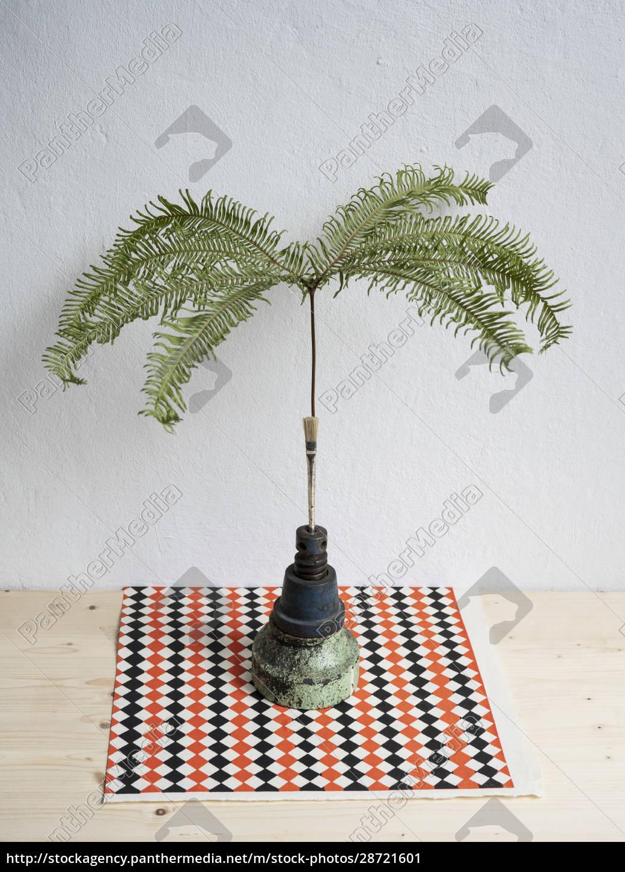 pianta, tropicale, natura, morta, in, vaso - 28721601