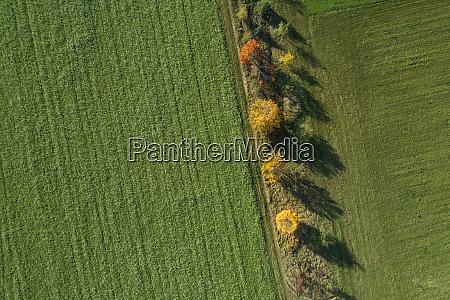 germania baviera vista drone della fila