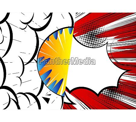 pop art fumetto design sfondo colorato