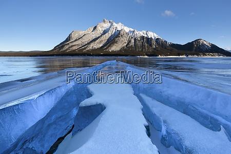 formazioni di ghiaccio con il monte