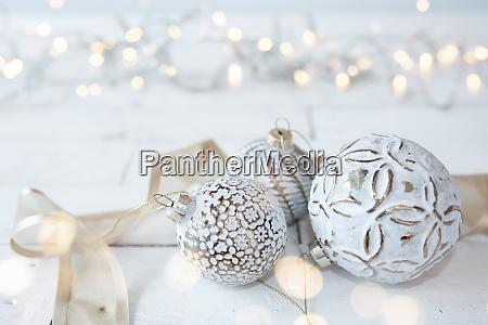 bellissime palle di natale bianche