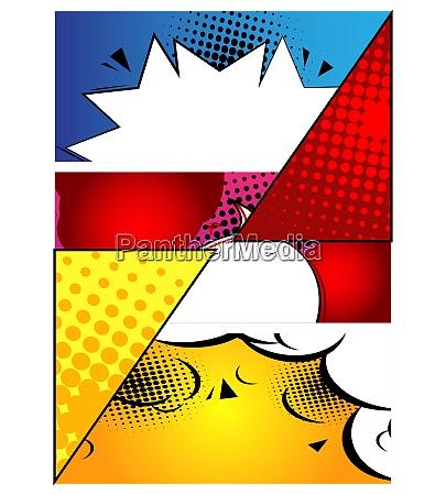 sfondo di design di fumetti illustrazione