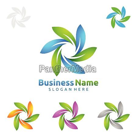 logo dellalbero verde naturale con ecology