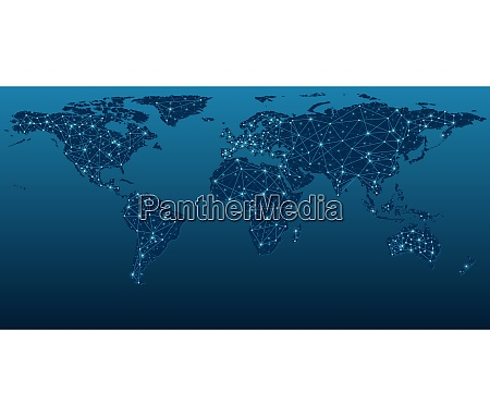 mappa del mondo blu scuro che