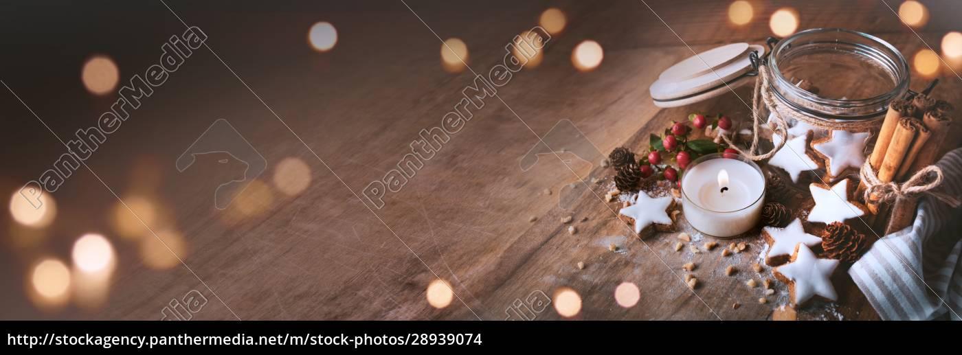 decorazione, natalizia, con, stelle, alla, cannella - 28939074