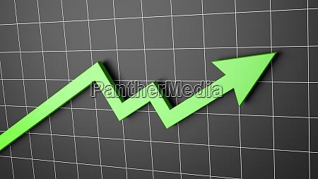 grafico freccia in aumento