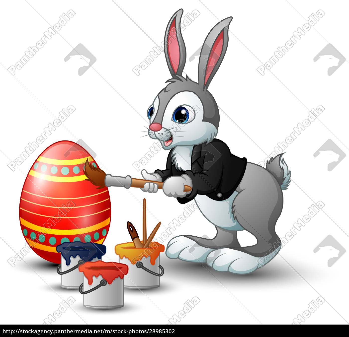 easter, bunny, painting, easter, egg - 28985302