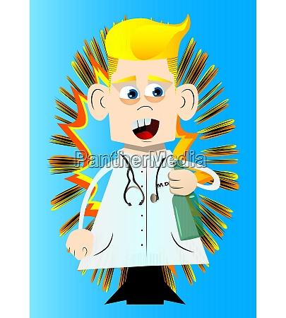 divertente dottore dei cartoni animati in
