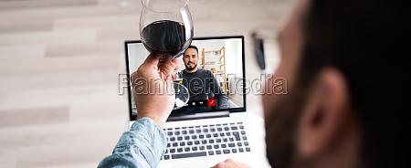 festa virtuale online per bere vino