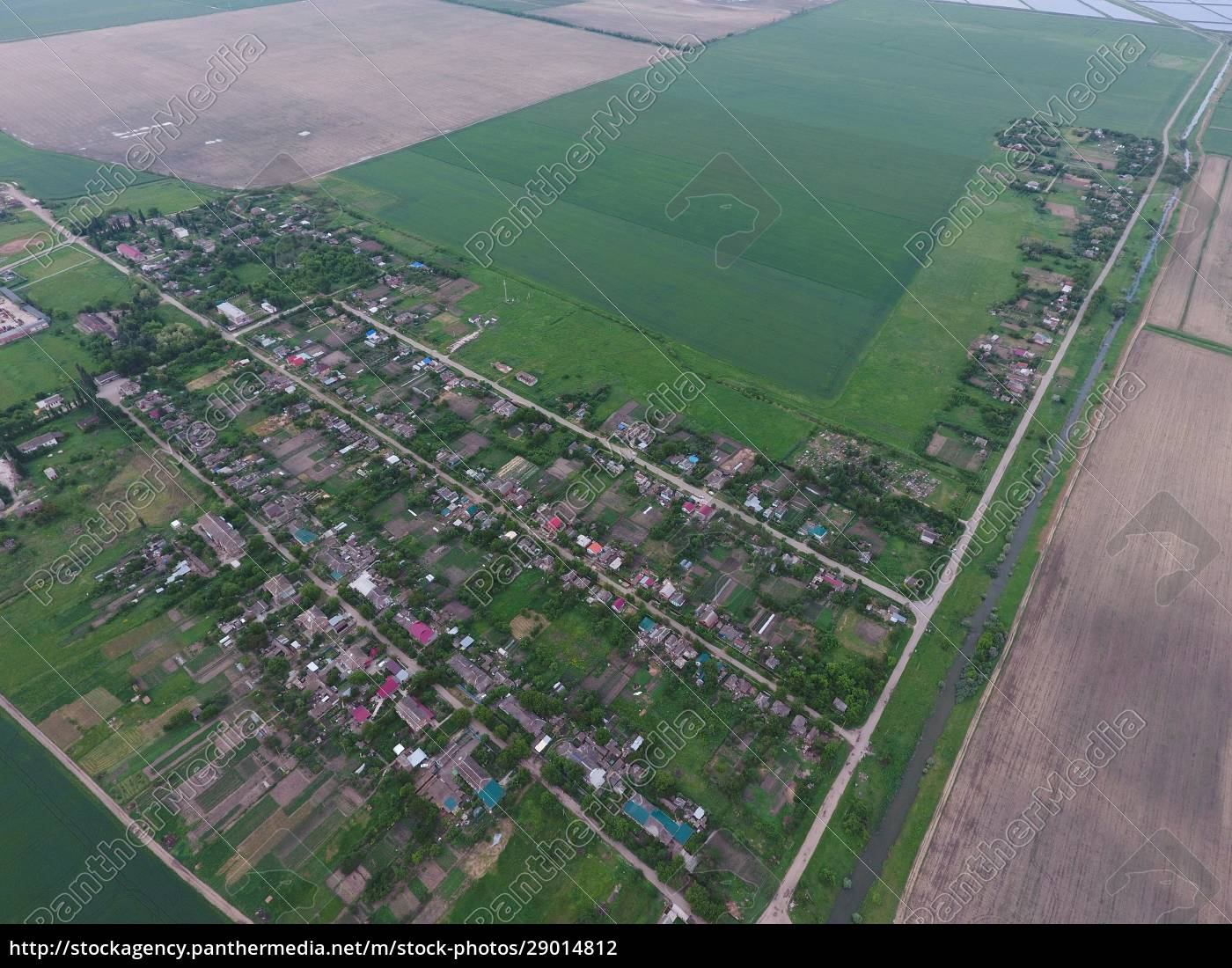 vista, dall'alto, del, villaggio, della, città - 29014812