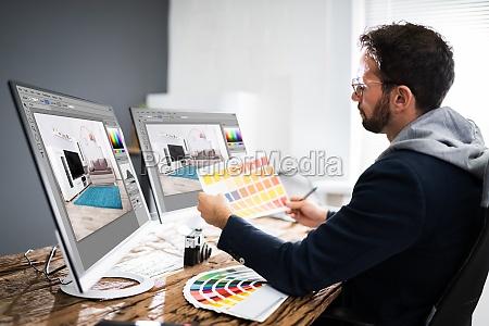 schizzo di disegno grafico designer