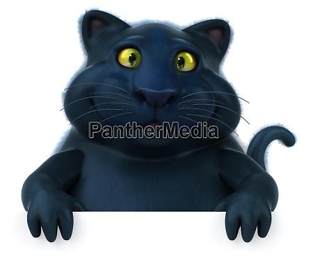 gatto nero illustrazione 3d