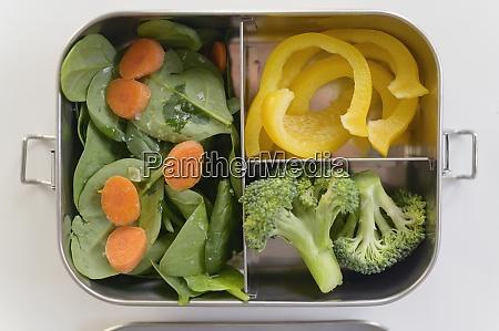 verdure, fresche, nella, scatola, del, pranzo - 29034133