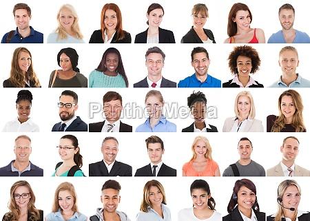 volto di persone diverse