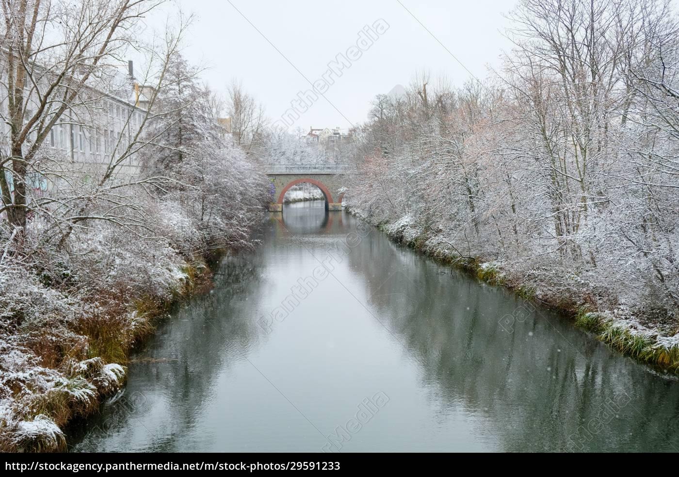 the, snow-covered, harbour, in, leipzig's, neulindenau - 29591233