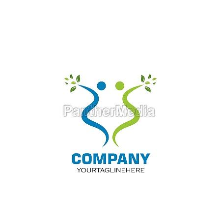 healthy, life, people, vettore, modello, logo - 29676693