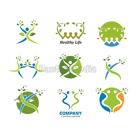 healthy, life, people, vettore, modello, logo - 29676710