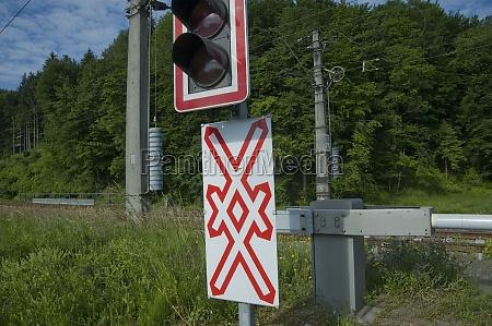 railroad, crossing, in, train, traffic - 29732930