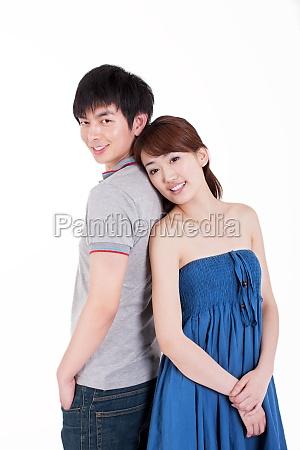 vita felice tra due giovani amanti