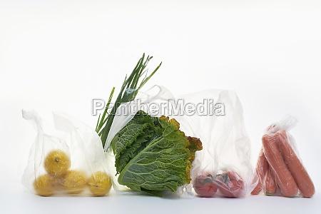 natura, morta, con, cibo, in, sacchetti - 29876189