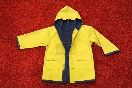 giallo, abbigliamento, protezione, vestitino, Cappuccio, Giacca - B359062932