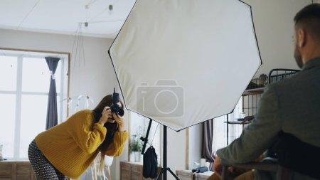 Fotografia, Bello., Apparecchiature, Studio., Arte, Ragazza - B179648464