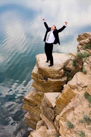 overwinning, acceso, felice, aziendale, persona, periodo estivo - B10716496