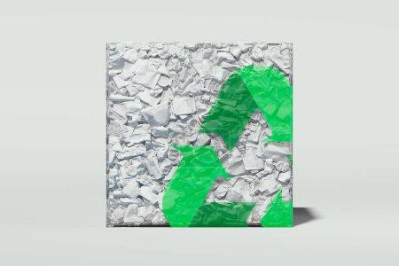 verde triangolo bianco elemento progettazione isolato