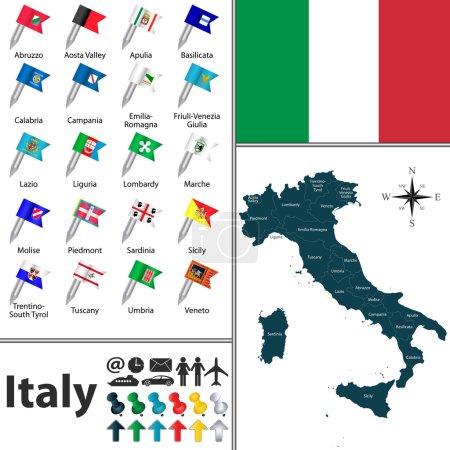 Italia, italiano, mappa, Toscana, Sardegna, Marche - B65494877
