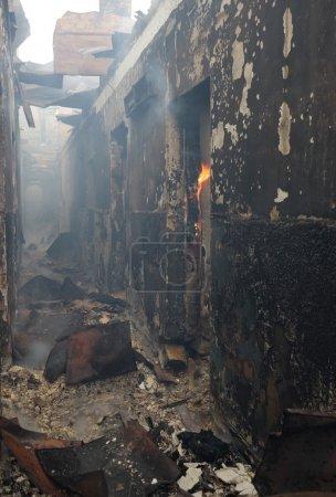 rischio, luce, pericolo, fumo, edificio, Ustione - B2741494